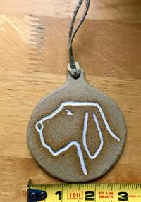 Spinone Ornament - White